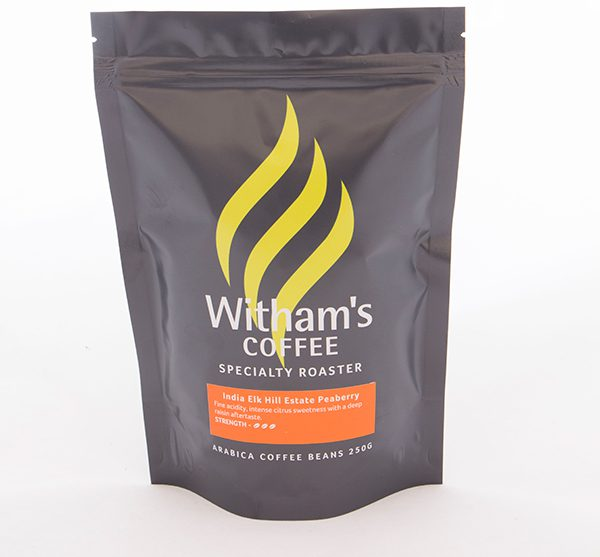 Witham's Coffee Beans - Indian Elkhill Estate Peaberry