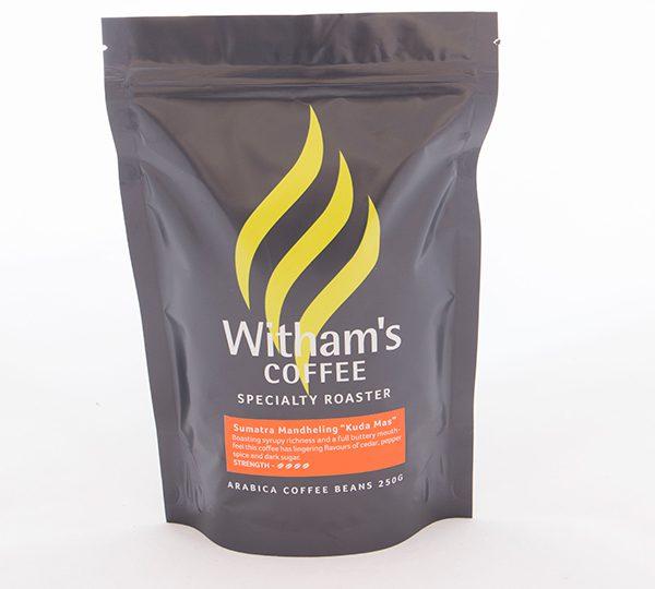 Witham's Coffee Beans - Sumatra Mandheling Gr 1 'Kuda Mas'1
