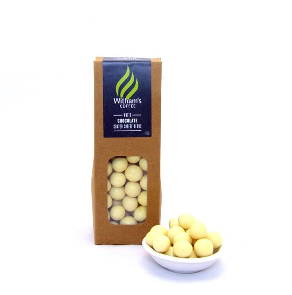 Witham's White Chocolate Coated Coffee Beans
