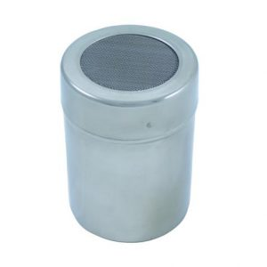 Stainless Steel Cocoa Shaker - Mesh Lid