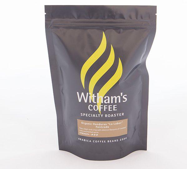Witham's Coffee Beans - Organic Honduras 'La Labor' Fairtrade